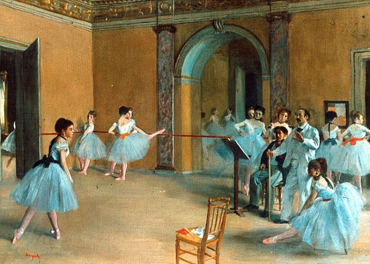 Foyer de la Danse by Edgar Degas