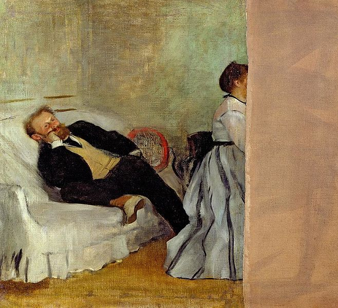 Monsieur and Madame Édouard Manet by Edgar Degas