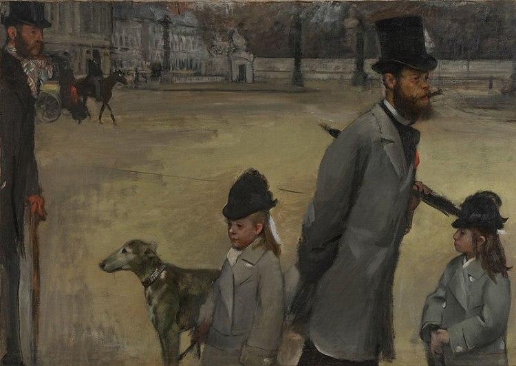 La Place de la Concorde by Edgar Degas