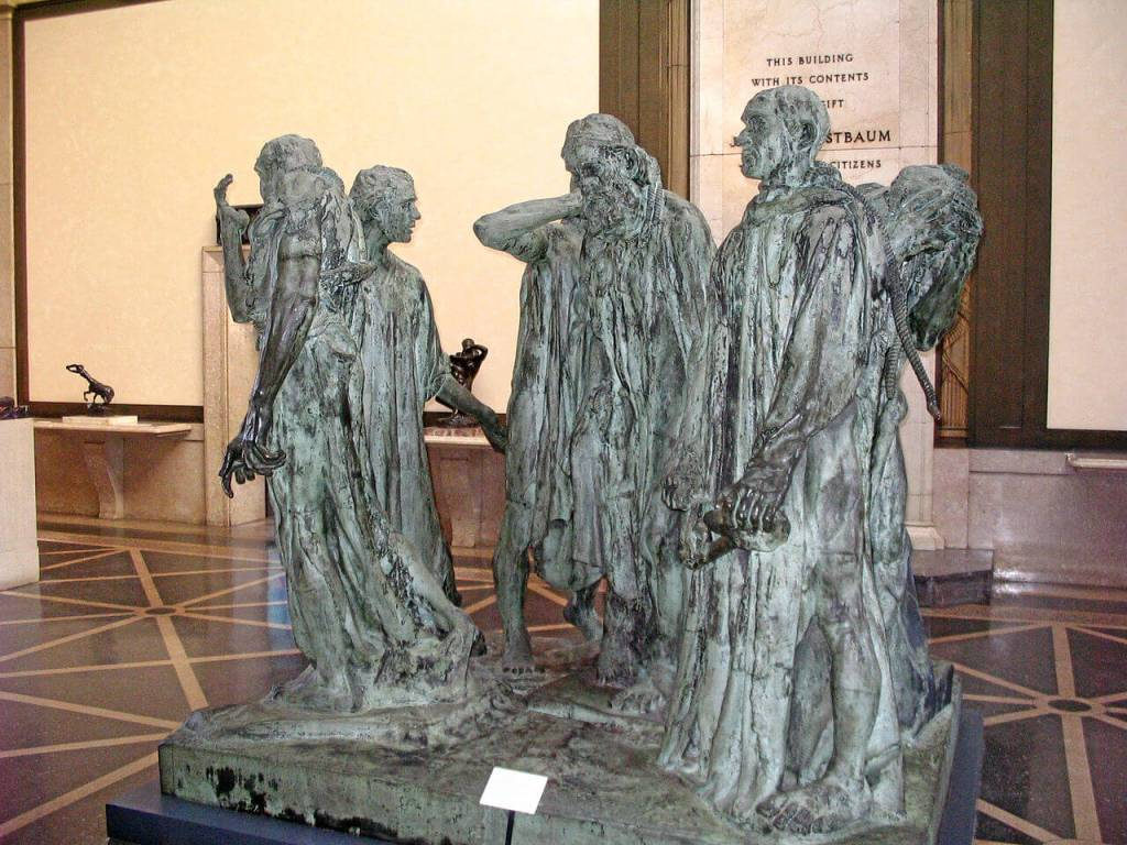 The Burghers of Calais sculpture by Auguste Rodin