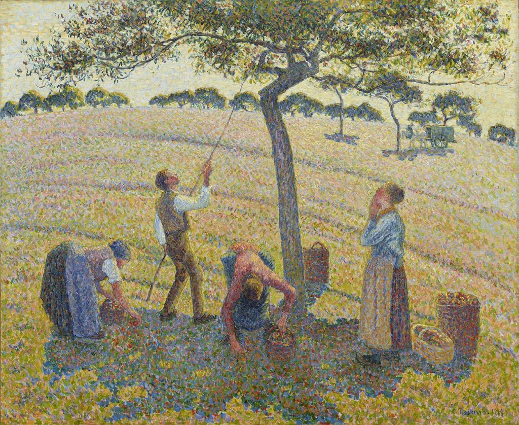 Apple Harvest at Éragny painting by Camille Pissarro