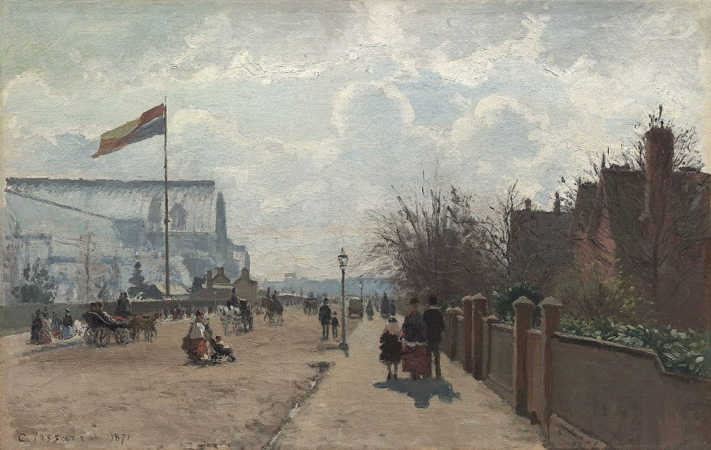 The Crystal Palace painting by Camille Pissarro
