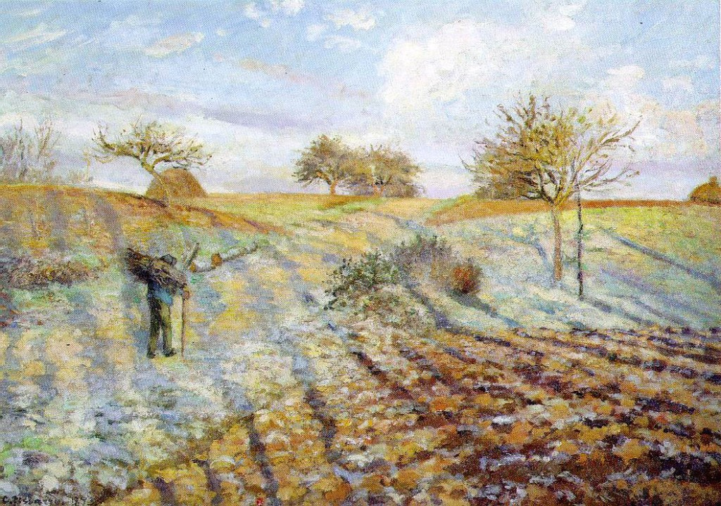 Hoarfrost painting by Camille Pissarro