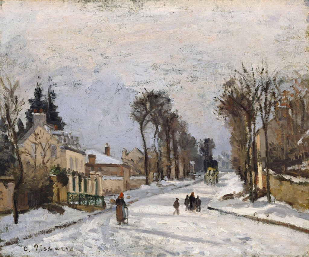 Road to Versailles at Louveciennes painting by Camille Pissarro
