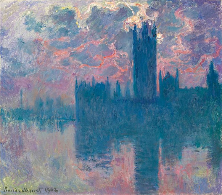 Houses of Parliament, Sunset painting by Claude Monet