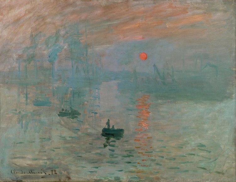 Impression, Sunrise painting by Claude Monet