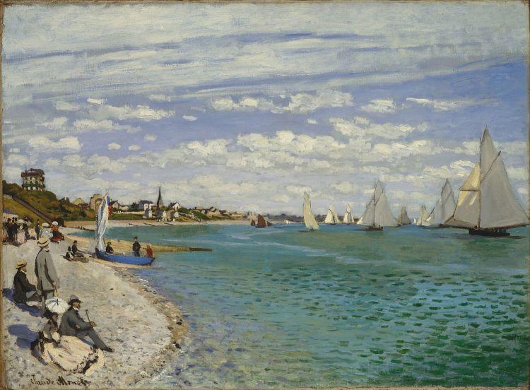 Regatta at Sainte-Adresse painting by Claude Monet