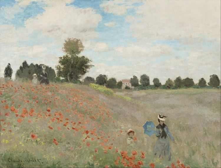 Poppies painting by Claude Monet