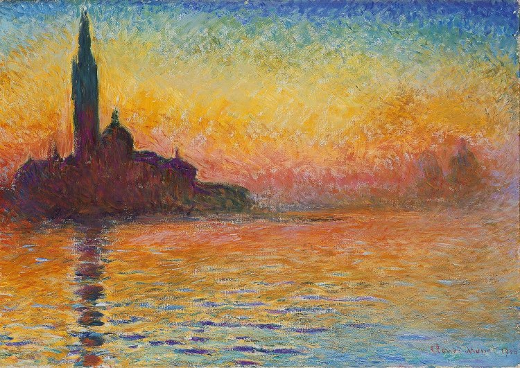 San Giorgio Maggiore at Dusk painting by Claude Monet