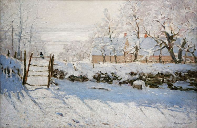 The Magpie painting by Claude Monet
