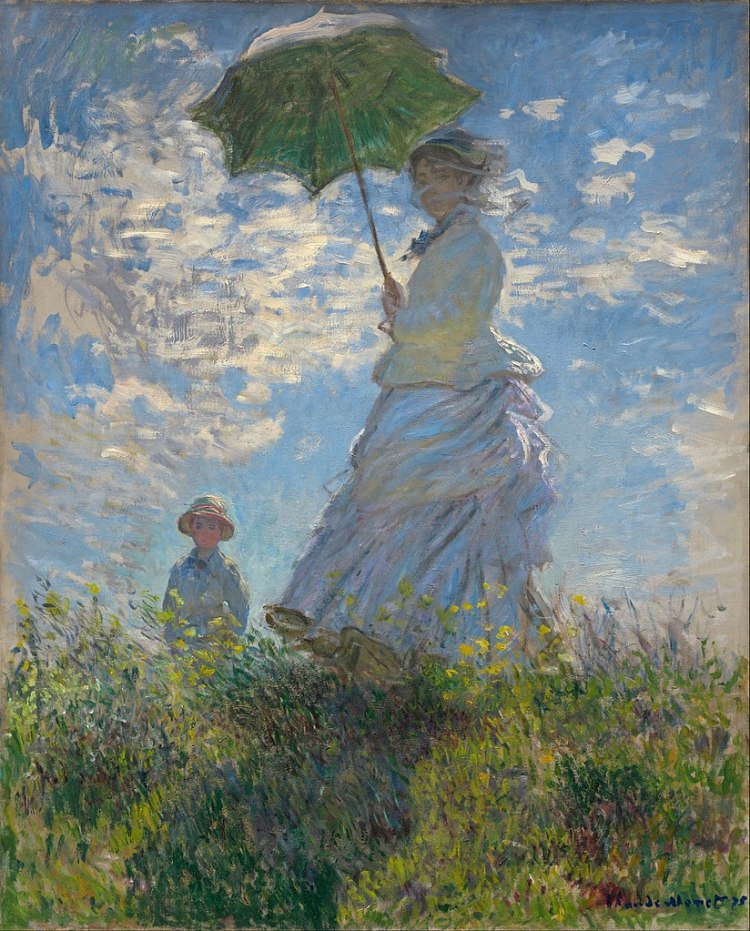 Woman with a Parasol painting by Claude Monet
