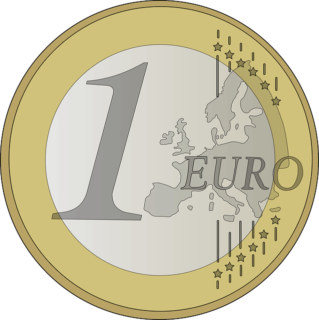 An illustration of a €1 coin.