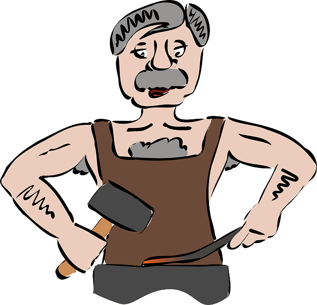 Illustration of a blacksmith