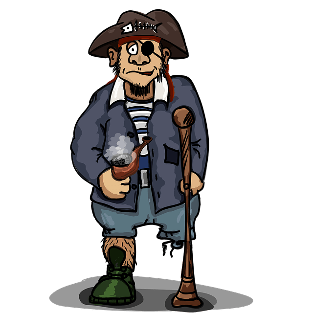 Illustration of a one-eyed pirate