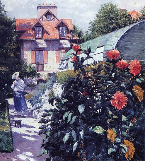 Dahlias, Garden at Petit Gennevilliers by Gustave Caillebotte