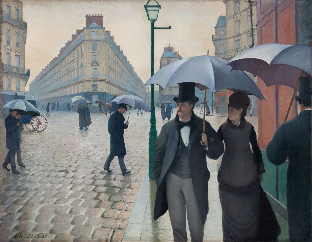Paris Street, Rainy Day by Gustave Caillebotte