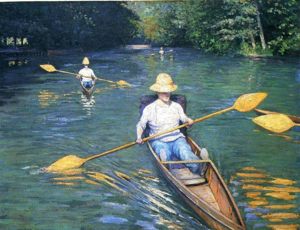 Skiffs on the Yerres by Gustave Caillebotte