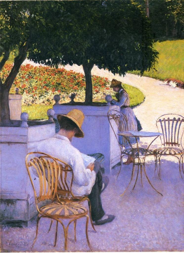 The Orange Trees (Les Orangers) by Gustave Caillebotte