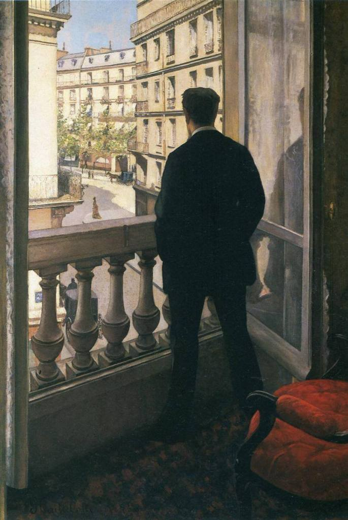 Young Man at his Window by Gustave Caillebotte