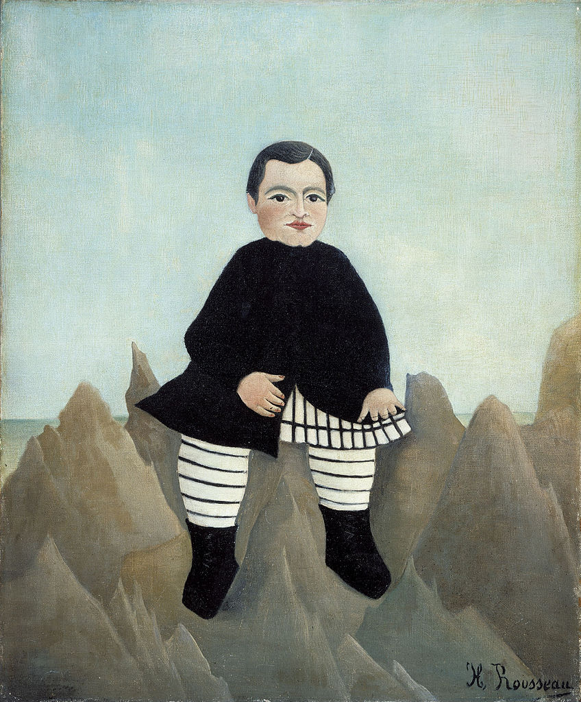 Boy on the Rocks (Garçon sur les rochers) by Henri Rousseau