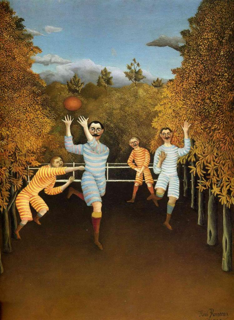 The Football Players (Les Joueurs de Football) by Henri Rousseau