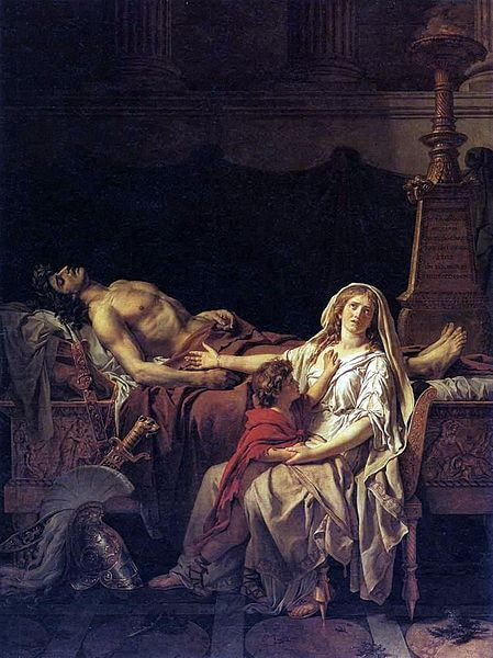 Andromache Mourning Hector painting by Jacques-Louis David