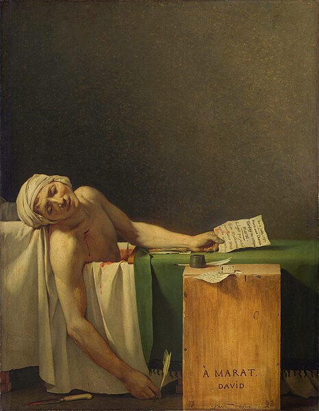 The Death of Marat painting by Jacques-Louis David