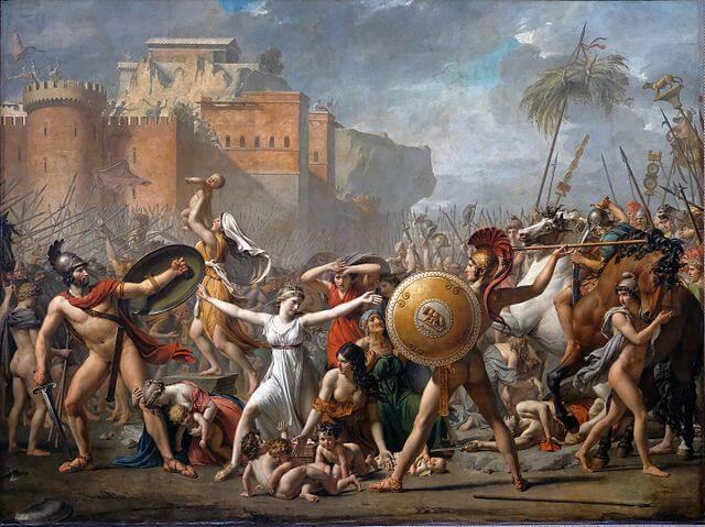 The Intervention of the Sabine Women painting by Jacques-Louis David