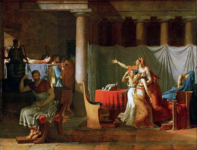 The Lictors Bring to Brutus the Bodies of his Sons painting by Jacques-Louis David