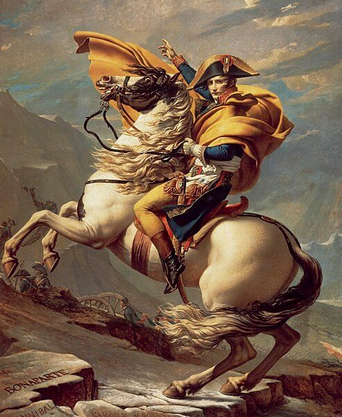 Napoleon Crossing the Alps painting by Jacques-Louis David