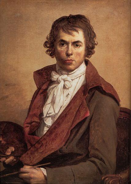Self-portrait painting by Jacques-Louis David