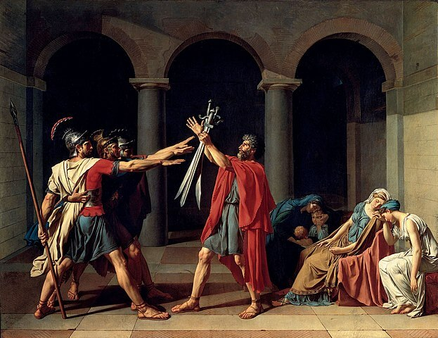 The Oath of the Horatii painting by Jacques-Louis David