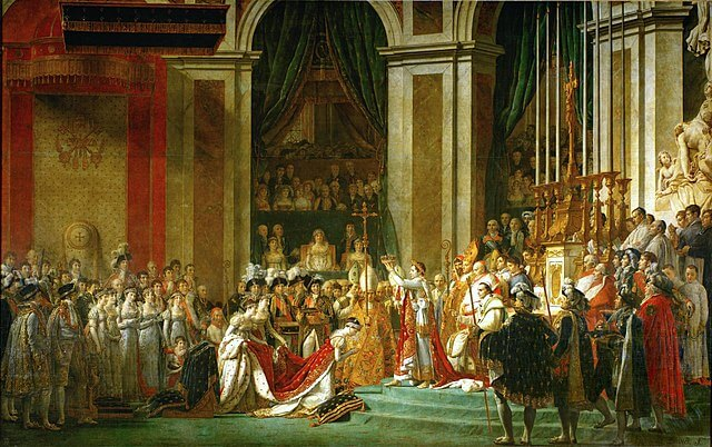 The Consecration of the Emperor Napoleon painting by Jacques-Louis David