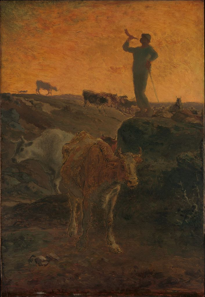 Calling the Cows Home by Jean-François Millet