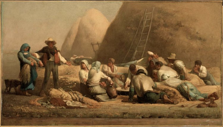 Harvesters Resting (Ruth and Boaz) by Jean-François Millet
