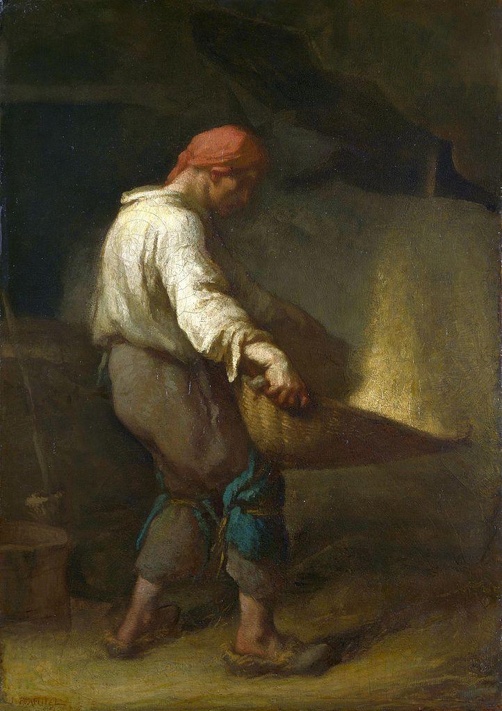 The Winnower by Jean-François Millet