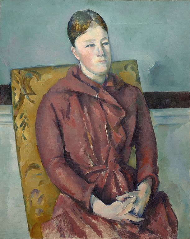 Madame Cézanne in a Yellow Chair painting by Paul Cézanne