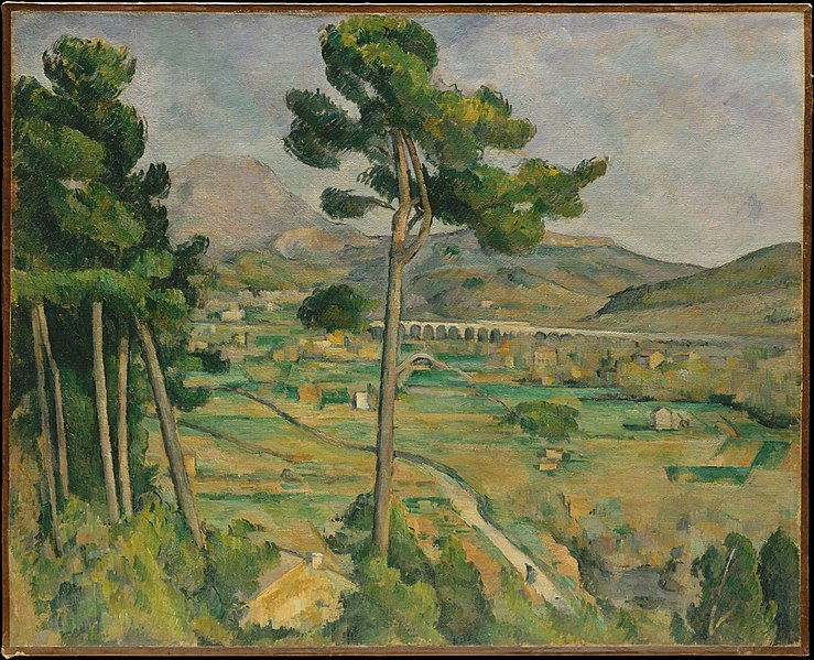 Mont Sainte-Victoire and the Viaduct of the Arc River Valley painting by Paul Cézanne