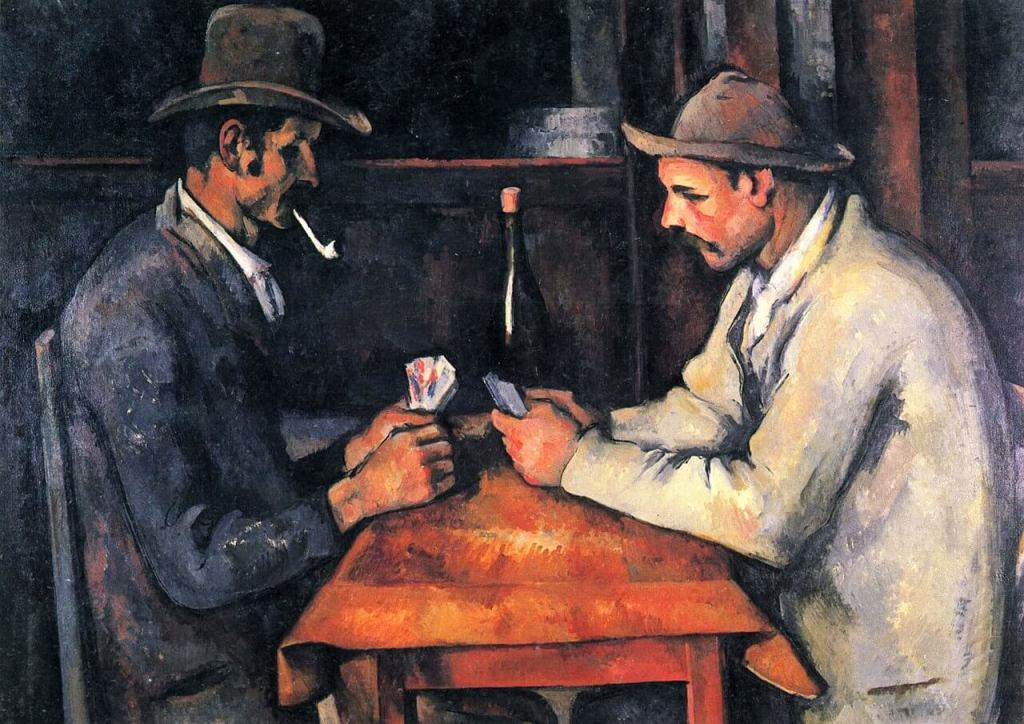 The Card Players painting by Paul Cézanne