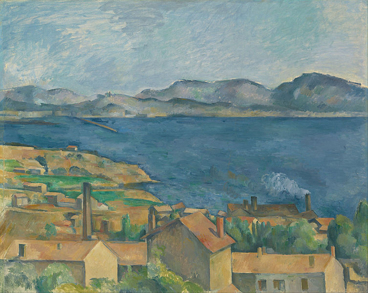 The Bay of Marseille, Seen from L'Estaque painting by Paul Cézanne