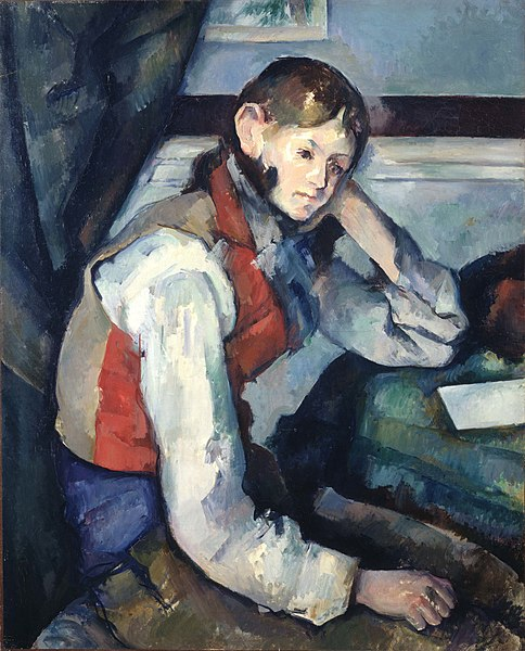The Boy in the Red Vest painting by Paul Cézanne