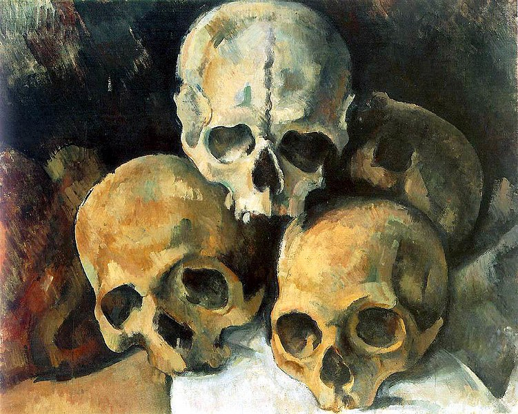 Pyramid of Skulls painting by Paul Cézanne