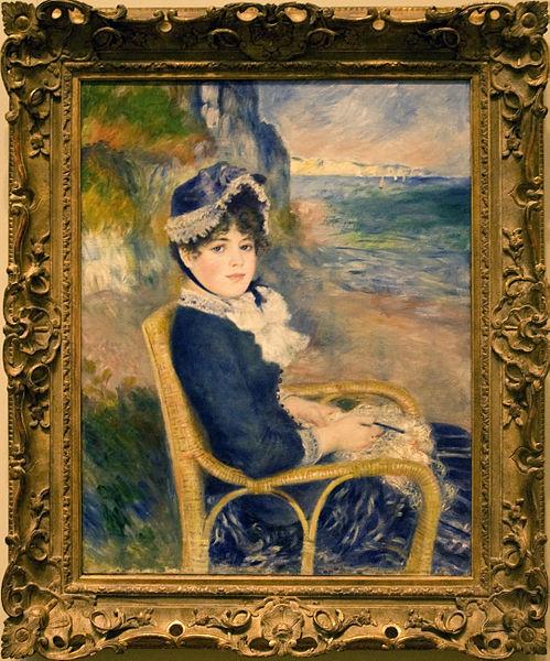 By the Seashore painting by Pierre-Auguste Renoir