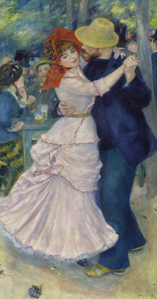 Dance at Bougival painting by Pierre-Auguste Renoir