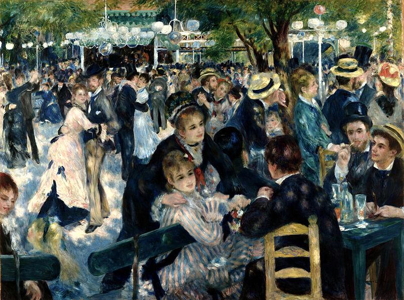 Dance at Le Moulin de la Galette painting by Pierre-Auguste Renoir