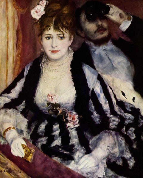 La Loge painting by Pierre-Auguste Renoir