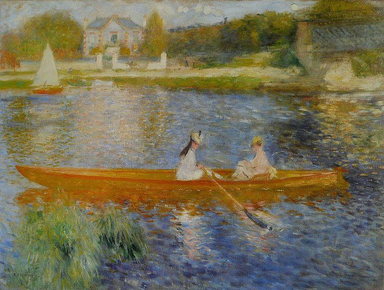 The Skiff painting by Pierre-Auguste Renoir