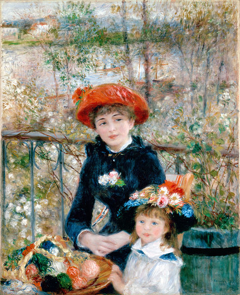 Two Sisters (On the Terrace) painting by Pierre-Auguste Renoir