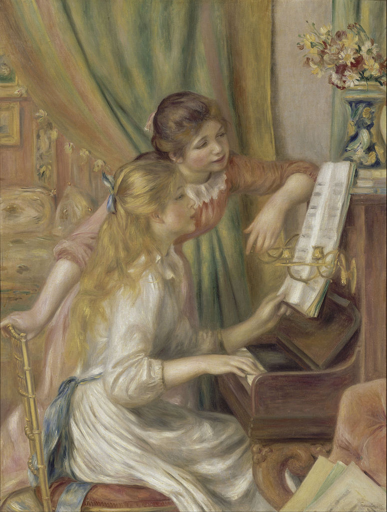Young Girls at the Piano painting by Pierre-Auguste Renoir