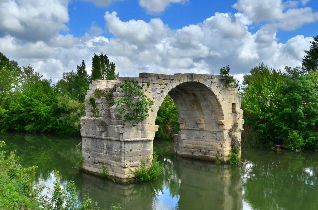 Pont Ambroix; now just a single arch